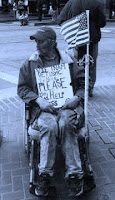 Homeless Veteran in wheelchair