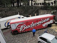 Stuck Budweiser Truck
