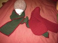 crochet hat,scarf