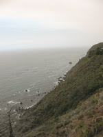 steep California coastline