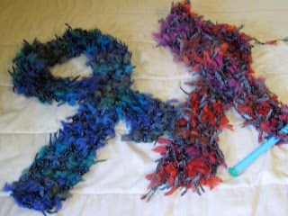 2 knitted scarves