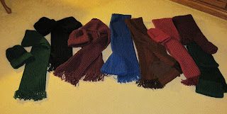 matching hats and scarves