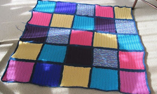 bright blocks crocheted afghan