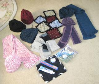 hats, scarves for homeless