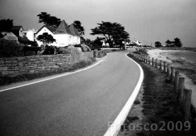 Bretagne, Morbihan - lignes droites courbes