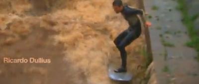 surf em rio sujo