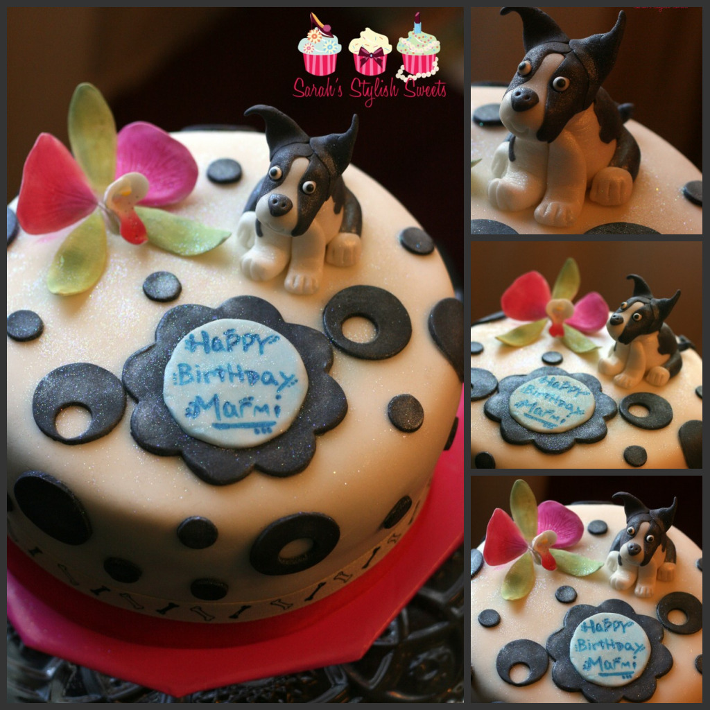 Sarahs Stylish Cakes Boston Terrier Cake 1 Yr Anniversary With