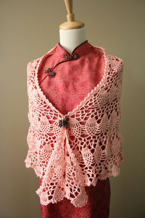 Cotton Crochet Patterns : Cotton Crochet Thread Shawl Patterns