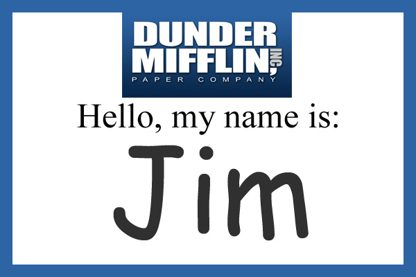 Handy image throughout dunder mifflin name tag printable