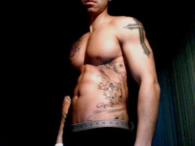 tattoos on ribs for men. men rib tattoos lotus flower
