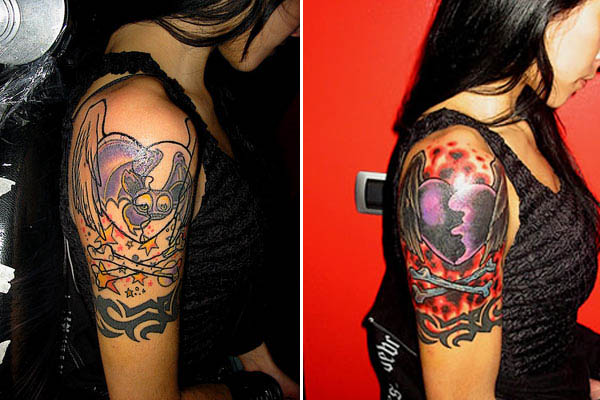 Black Cover Up Tattoos