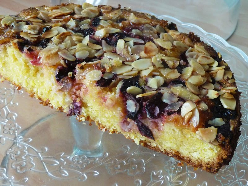 Warm Almond-Cherry Cake Recipes — Dishmaps