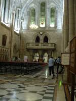 the Hall at the Royal Courts of Justice being readied for the event