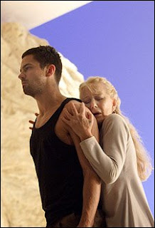 Helen Mirren (Phèdre) and Dominic Cooper (Hippolytus), photo by Catherine Ashmore