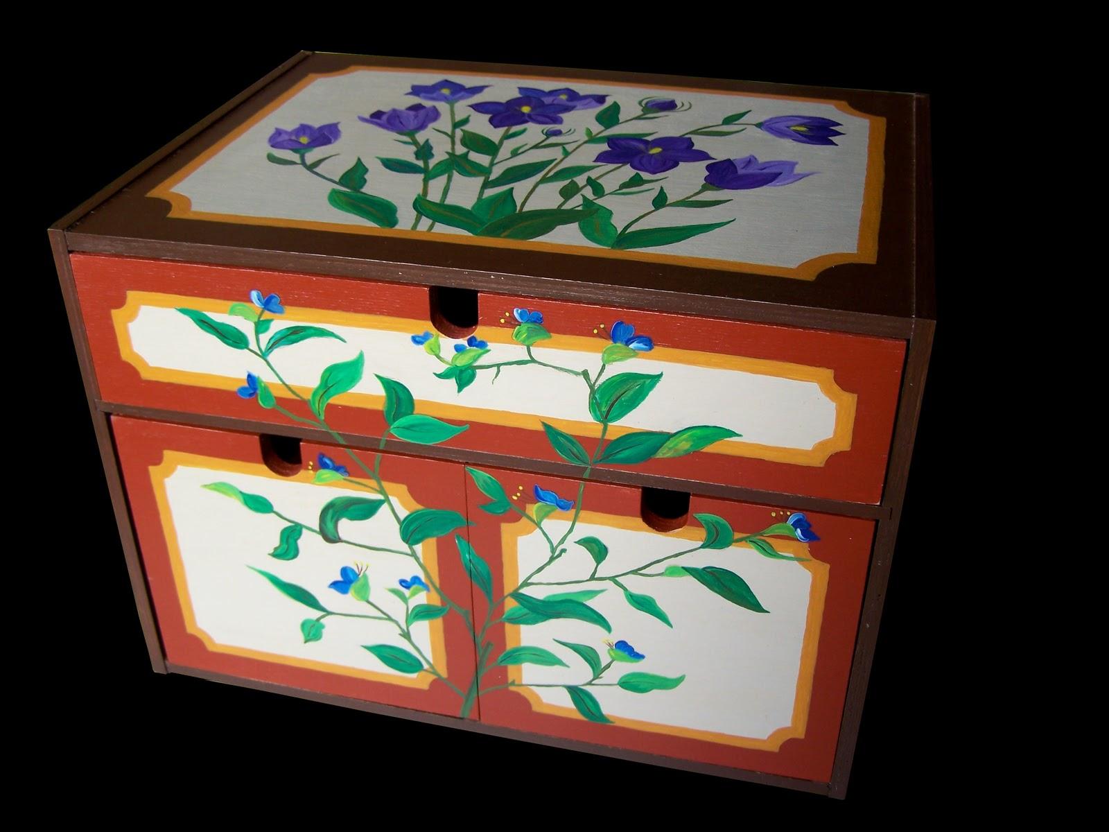 Imagina que hacer pintura decorativa mueble con tres cajones for Pintura decorativa muebles