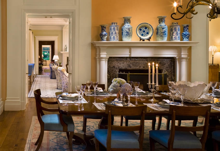 Decadent dining rooms.......come take a seat. Au Revoir ...