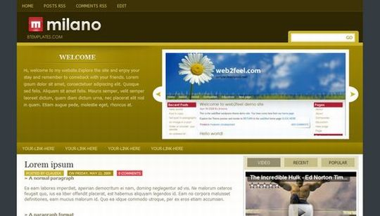 Dark Brown Green Magazine Blogger Template