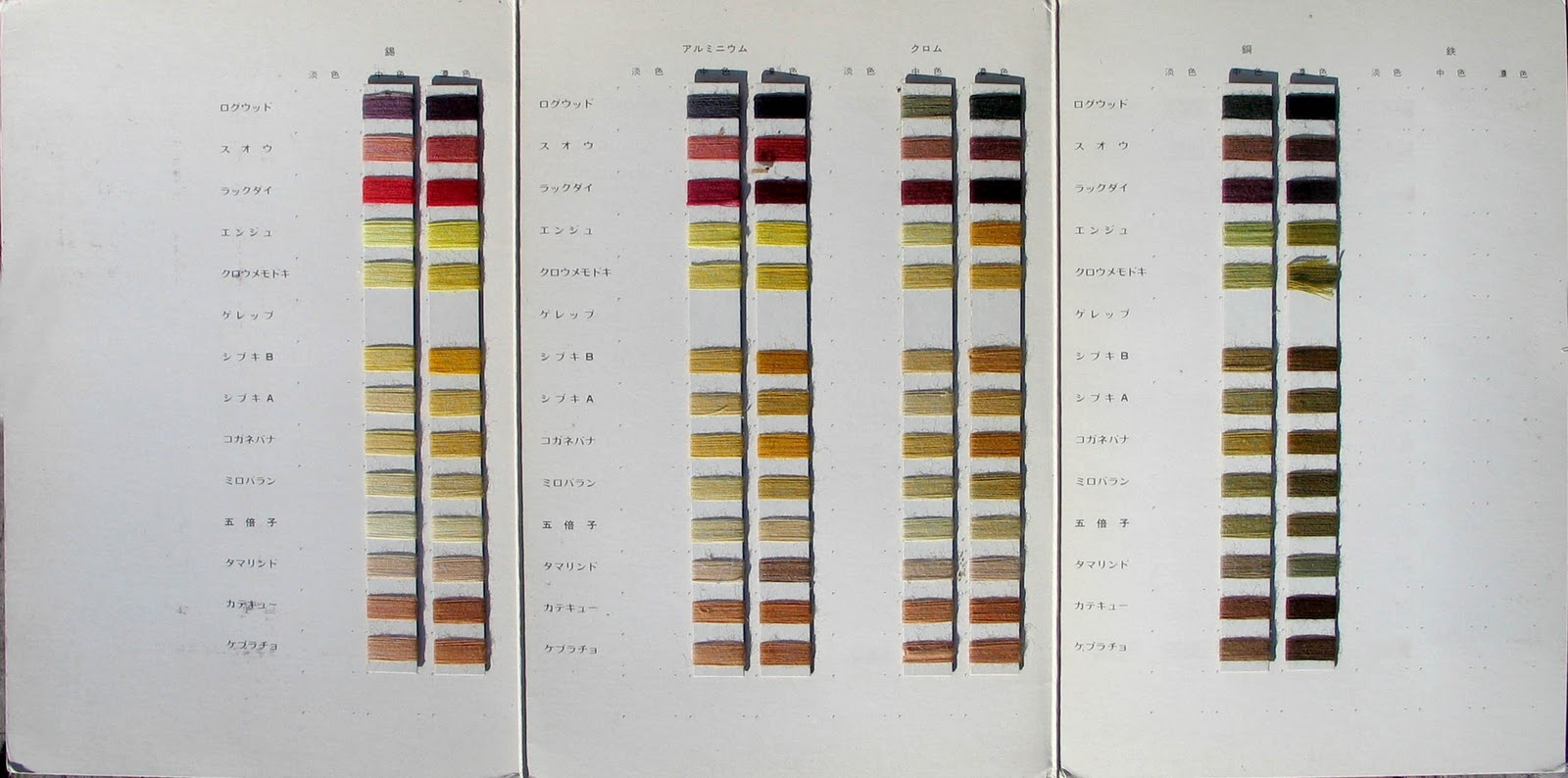 Magic of light mystery of shadows tanaka nao dye color charts natural dyes on cotton nvjuhfo Images
