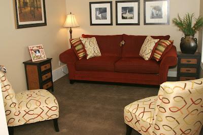 Who loves color shutterbug mom of 3 - Brown carpet in living room ...