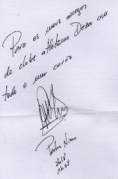 O autógrafo de Pedro Nimo