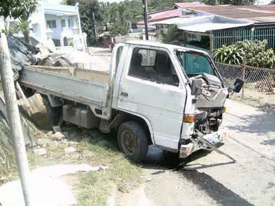 vehicles truck accident