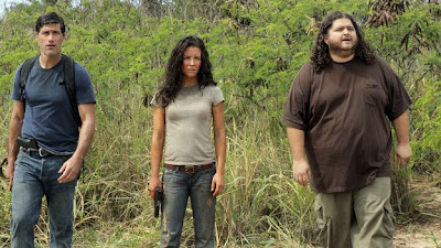 Lost - The Candidate - Matthew Fox as Jack Shephard, Evangeline Lilly as Kate Austen & Jorge Garcia as Hugo 'Hurley' Reyes