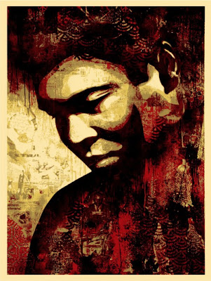 Obey Giant - Ali Canvas Screen Print by Shepard Fairey