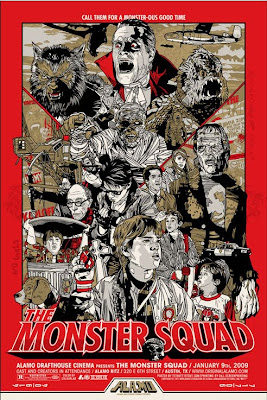 Alamo Drafthouse - The Monster Squad Red Screenprint by Tyler Stout