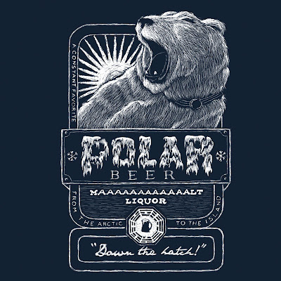 Lost Themed T-Shirt Polar Beer by Ian Leino
