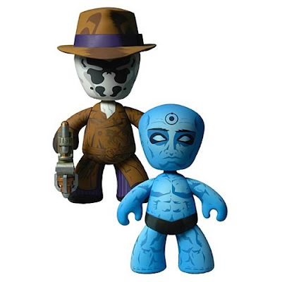 Watchmen Series 1 Mez-Itz Vinyl Figures by Mezco Toyz - Rorschach and Dr. Manhattan
