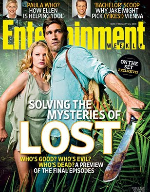 Entertainment Weekly Issue #1091 - Feb 26, 2010 Lost Cover featuring Matthew Fox and Emile de Ravin