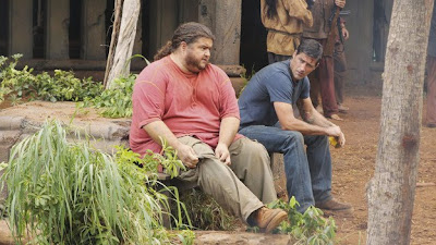 Lost - Lighthouse - Jorge Garcia as Hugo Reyes &amp; Matthew Fox as Jack Shephard