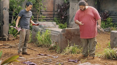 Lost - Lighthouse - Ken Leung as Miles Straume & Jorge Garcia as Hugo Reyes