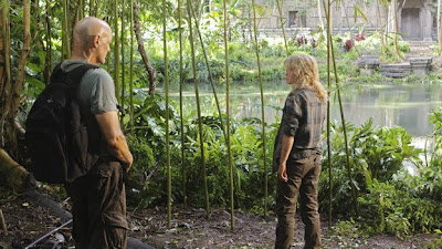 Lost - Sundown - Terry O'Quinn as John Locke & Emilie de Ravin as Claire Littleton