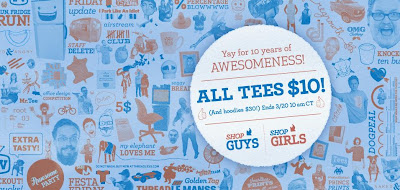 Threadless 10th Anniversary Sale