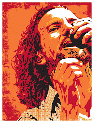 Eddie Vedder Screen Print by Joshua Budich