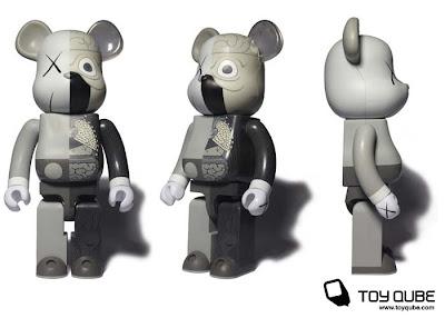 Medicom x Original Fake Kaws Mono Dissected Companion 100%, 400% & 1000% Bearbrick Vinyl Figures