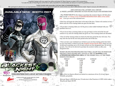 DC Direct x Graphitti Designs WonderCon Exclusive Black Lantern Hal Jordan & White Lantern Sinestro Action Figures Advertisement