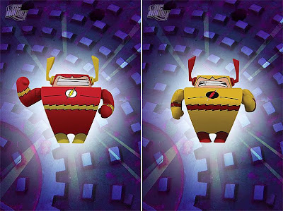 Blammoids! Series 4 by DC Direct - The Flash & Zoom Mini Vinyl Figures