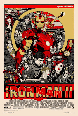 Iron Man 2 Screen Print by Tyler Stout