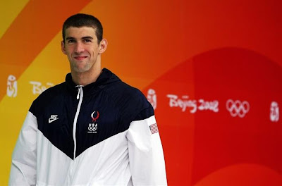U.S. Olympic Swimmer Michael Phelps at the 2008 Beijing Summer Olympics