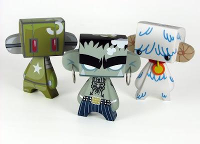 MAD*L Phase 3 Designer Vinyl Figures - Armybot, Slam & Aidamon