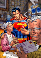 DC Comics - Superman with Ma and Pa Kent