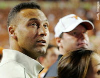 Derek Jeter and Roger Clemens on the Sideline of the Texas Longhorns vs. Missouri Tigers Football Game