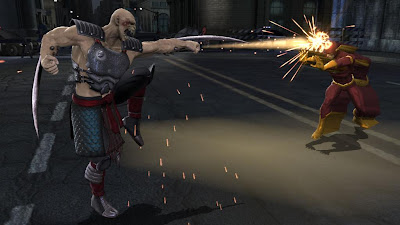 Mortal Kombat vs. DC Universe Screenshot - Baraka vs. the Flash