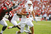 Texas Longhorns WR Jordan Shipley Sprints Past the Oklahoma Sooners during a Kickoff for a TD