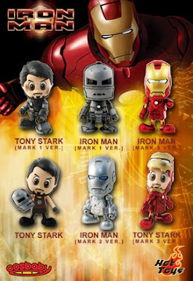 Iron Man Movie Cosbaby 7 Figure PVC Set by Hot Toys