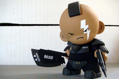 Huck Gee - Corporal Thundersticks Anson Hand Painted Custom Munny