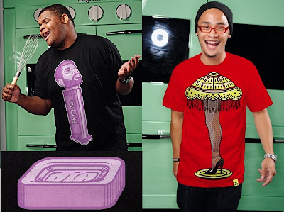 Johnny Cupcakes - JC Dispenser and Leg Lamp T-Shirts