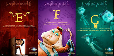 Coraline Alphabet Promo Movie Posters - E, F, G